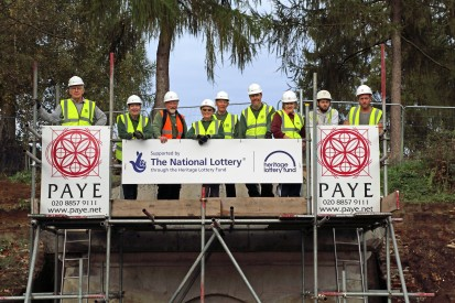 Volunteers at Hope Mausoleum. image Courtesy of PAYE Ltd.