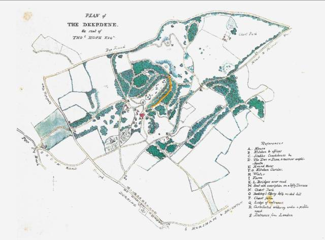 Deepdene_map_1825